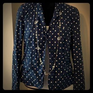 ⚡️4 for $15 Blue blazer with white polka dots⚡️